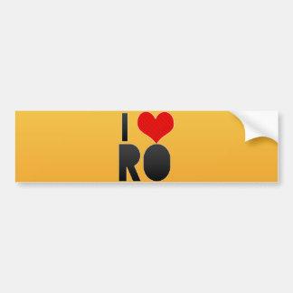 I Love RO Bumper Sticker
