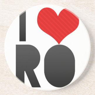 I Love RO Beverage Coasters
