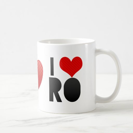 I Love RO Coffee Mugs