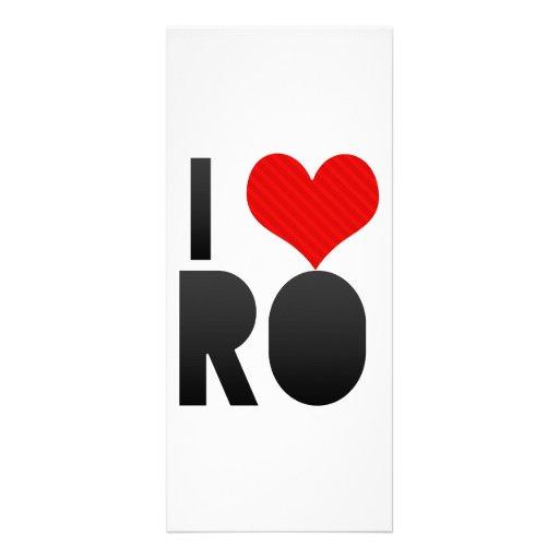 I Love RO Customized Rack Card