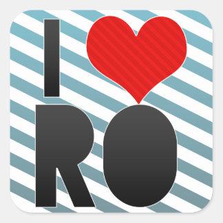 I Love RO Square Stickers