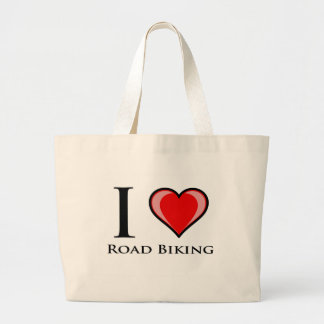 I Love Road Biking Canvas Bag