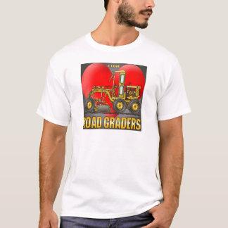 I Love Road Graders Mens T-Shirt