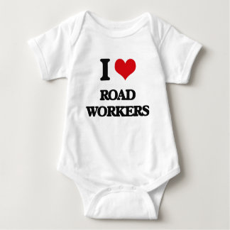 I Love Road Workers Baby Bodysuit