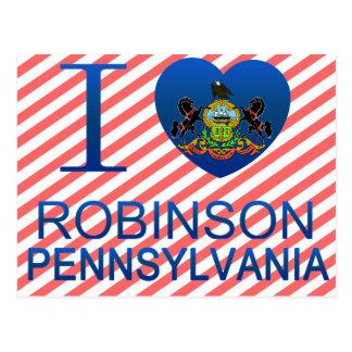 I Love Robinson, PA Postcard