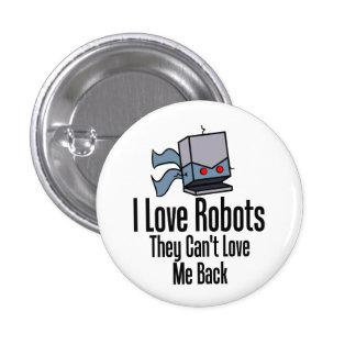I Love Robots Pin