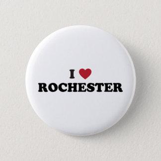 I Love Rochester New York 6 Cm Round Badge