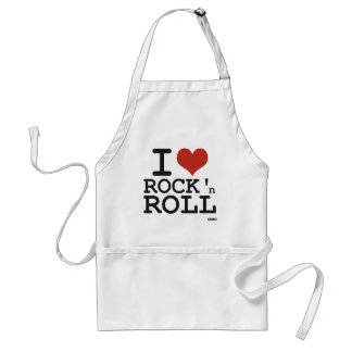 I love Rock and roll Aprons