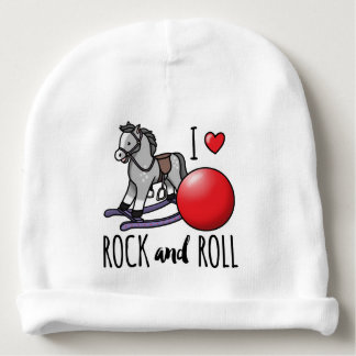 I Love Rock and Roll Baby Beanie
