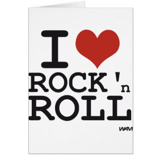 I love Rock and roll Greeting Card