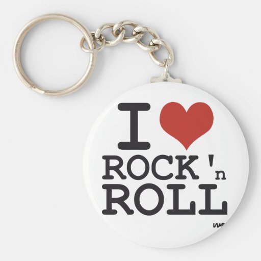 I love Rock and roll Key Chain