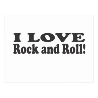 I Love Rock and Roll! Postcard