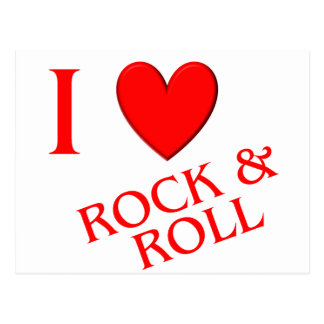 I Love Rock and Roll Postcard