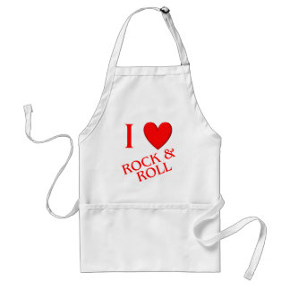 I Love Rock and Roll Standard Apron