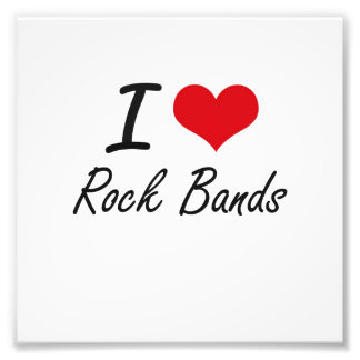 I love Rock Bands Photograph