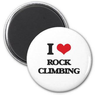 I Love Rock Climbing 6 Cm Round Magnet