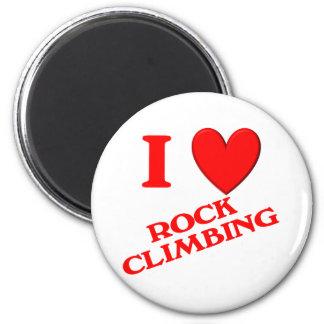 I Love Rock Climbing Refrigerator Magnet