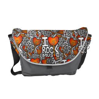 I love rock music messenger bag