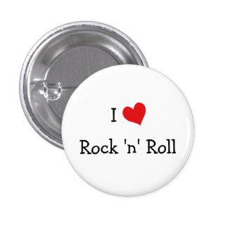 I Love Rock 'n' Roll 3 Cm Round Badge