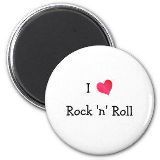 I Love Rock 'n' Roll 6 Cm Round Magnet