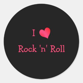 I Love Rock 'n' Roll Round Sticker
