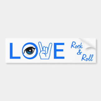 I Love Rock & Roll Bumper Sticker