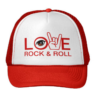 I Love Rock & Roll Mesh Hats