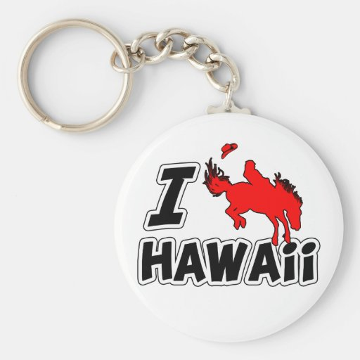 I Love Rodeo Hawaii Key Chain