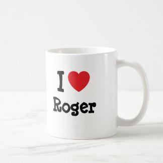 I love Roger heart custom personalized Mugs