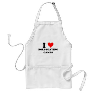 I Love Role-Playing Games Aprons
