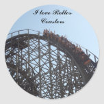 I love Roller Coasters stciker Round Sticker