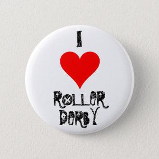 I LOVE ROLLER DERBY 6 CM ROUND BADGE