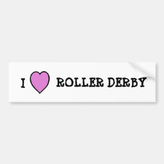 I Love Roller Derby Sticker Bumper Sticker