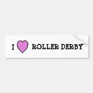 I Love Roller Derby Sticker Bumper Sticker