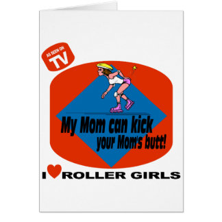 I Love Roller Girls Card