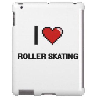 I Love Roller Skating Digital Retro Design