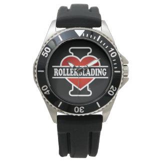 I Love Rollerblading Wristwatch