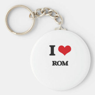 I Love Rom Key Ring