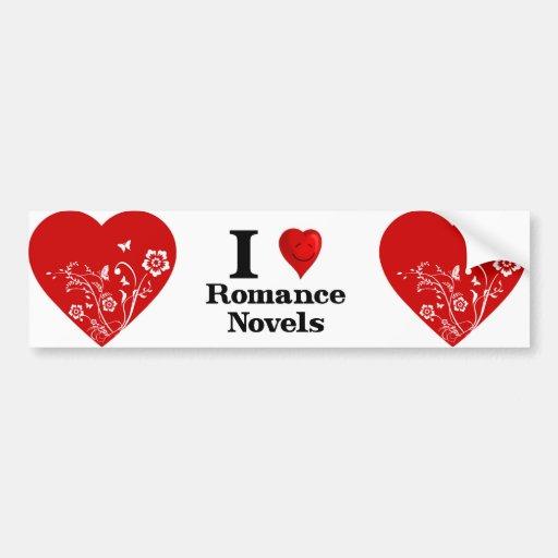 I Love Romance Novels Bumper Sticker