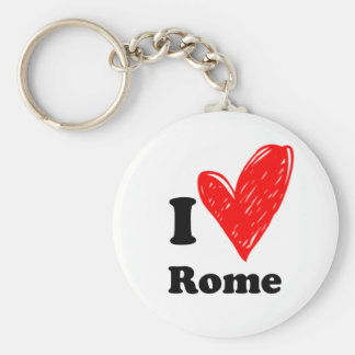 I Love Rome Basic Round Button Key Ring