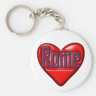 I Love Rome Basic Round Button Key Ring