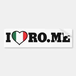 I Love Rome Bumper Sticker