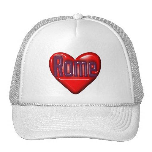 I Love Rome Mesh Hats