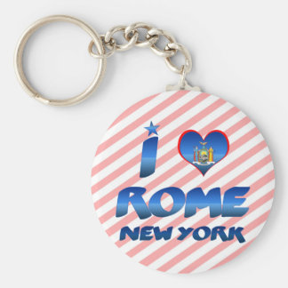 I love Rome, New York Keychains