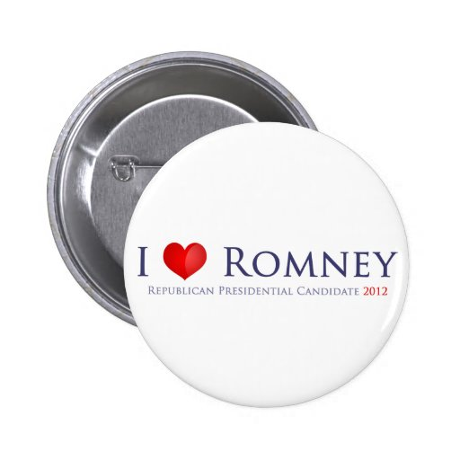 I love Romney Button