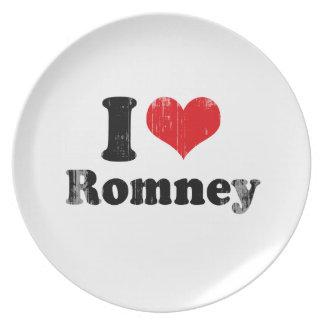 I LOVE ROMNEY PLATE