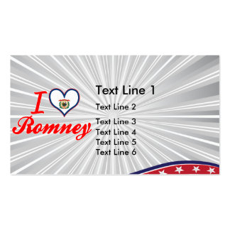 I Love Romney, West Virginia Business Cards
