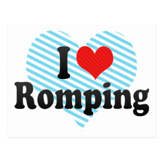 I Love Romping Post Card