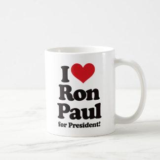 I Love Ron Paul for President Coffee Mug