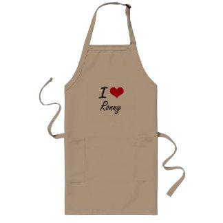 I Love Ronny Long Apron